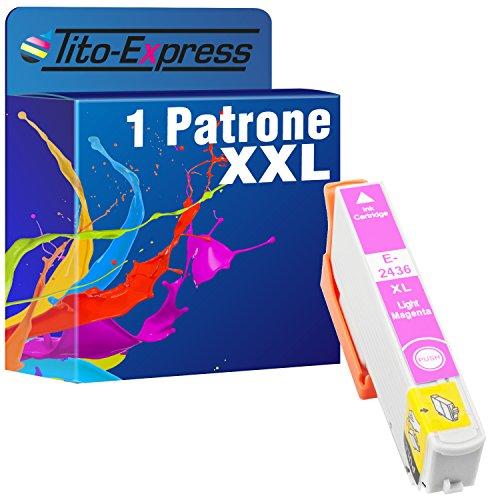 Tito-Express PlatinumSerie 1x Tintenpatrone XXL TE2436 Light Magenta kompatibel mit Epson Expression Photo XP-55 XP-750 XP-760 XP-850 XP-860 XP-950 XP-960