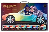 Rainbow High Color Change Car – Convertible Vehicle, 8-in-1 Light-Up, Multicolor Changing Car with Wheels That Move, Working Seat Belts and Steering Wheel. Car fits 2 Fashion Dolls
