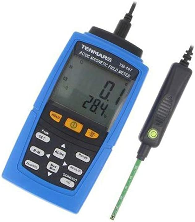 Tm-197 magnetic field meter 0-30000g,0-3000mt 40-500hz events: 200 tenmars TM-197
