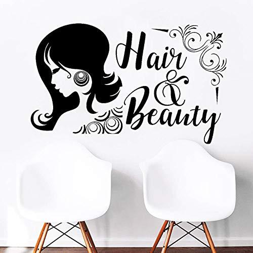 Tianpengyuanshuai Aufkleber Vinyl Aufkleber für Haar- und Schönheitssalons abnehmbare Selbstklebende Wandtattoo 57X35cm
