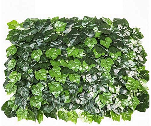 HYLL Setos Artificiales Pantalla de la Hoja de privacidad de Vallas, Paneles de Hojas de Vid Cerco Protector de Pantalla de Enrejado de jardín, cercas Decorativas Falso Ivy para Jardines, BALC.