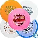Dynamic Discs | Latitude 64 | Westside Discs | Five Disc Misprint Pack | Disc Golf Starter Pack | Frisbee Golf Discs | Disc Golf Driver | Disc Golf Midrange | Disc Golf Putter (5 Pack)