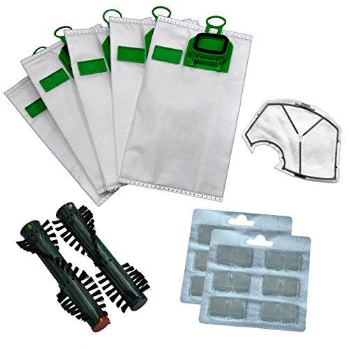 Microvlies lot de 12 sacs pour aspirateur compatible avec vorwerk kobold 140/150, dUFTHALTER et filtre de protection du moteur, eB360/370 12 duftblocks et brosses
