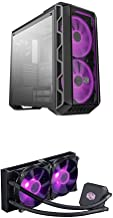Cooler Master MasterCase H500 ATX Mid-Tower w/Tempered Glass Side Paneland MasterLiquid LC240E RGB Close-Loop AIO CPU Liqu...