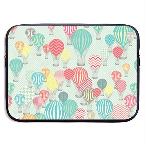 Hot Air Balloons Laptop Sleeve Shoulder Bag, Protective Carrying Case 15 Inch Slim Sleeve