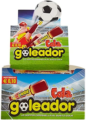 Goleador Cola, la Doppia Caramella Gommosa, Box da 200 Pezzi, Gusto Cola