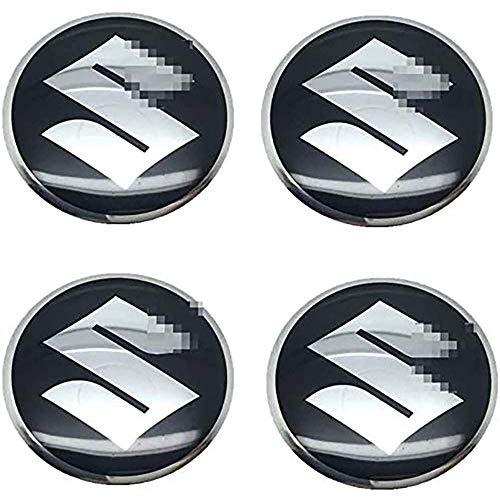 Para Suzuki Swift SX4 Jimny Samurai Vitara Alto Liana 56.5mm, 4 Piezas Coche Tapas centrales Aleación Tapacubos con Emblema De Insignia Embellecedor Central De Llanta De Rueda Cubre Accesorios