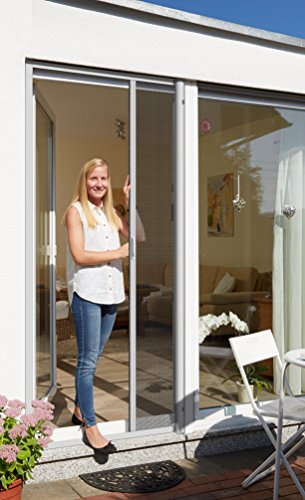 Schellenberg 70896 Insektenschutzrollo für Türen 160 x 225 cm, Fliegengitter Tür als Rollo