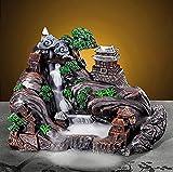 sdfpj Smoke Waterfall Backflow Incienso Incienso Creativo hogar decoración Incienso Soporte portátil Resina censher montaña río artesanía Regalo
