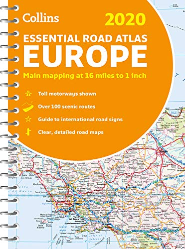 2020 Collins Essential Road Atlas Europe