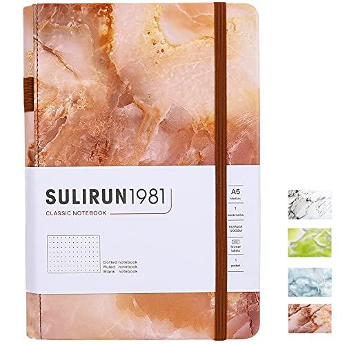 Diario de viaje de piel sintética con diseño de bala con lunares A5 de 5.8 x 8.3 pulgadas, 120 g/m², 160 páginas, bolsillo interior, lazo para bolígrafo
