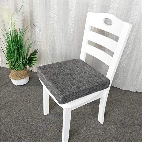 Preisvergleich Produktbild AINIYUE Sitzkissen für die Reise,  atmungsaktive Sofa Matte,  verdicken Schwamm rutschfeste Stuhlkissen,  für Auto Beten Pads 40x40x5cm Dunkelgrau