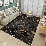 Suave de varios tamaños Para Salón La Alfombrae Gris Alfombra de la sala de estar gris profundo desordenado geométrico moderno dormitorio alfombra antideslizante antideslizante La Alfombrers 50x80cm a