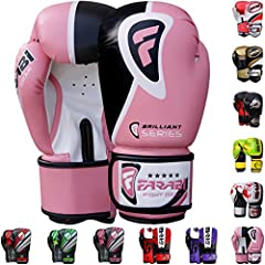 Farabi Boxing Gloves Boxing Gloves for Training Punching Sparring Muay Thai Kickboxing Gloves (Pink, 16Oz)