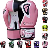 Farabi Boxing Gloves Boxing Gloves for Training Punching Sparring Muay Thai Kickboxing Gloves (Pink, 10Oz)