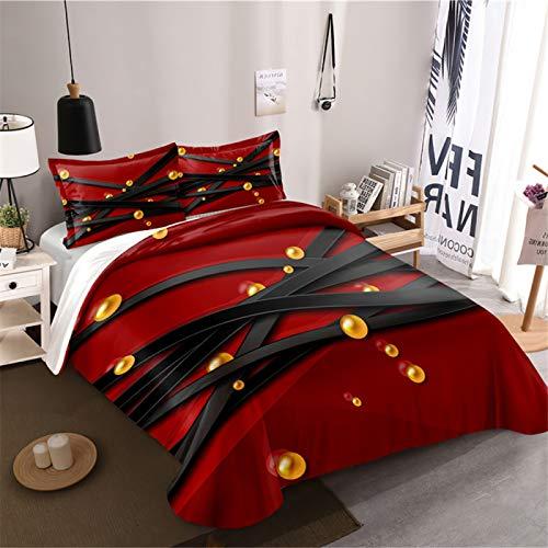 Juego De Fundas De Edredón Cálido, Cómodo Y Transpirable, Funda De Edredón Suave Teñido Anudado Abstracto 3D, Textiles para El Hogar del Dormitorio Que Pueden Ser Utilizados por Hombres Y Mujeres
