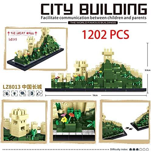 CHOUDOUFU Estatua Escultura Adorno Mini Micro Block Oxford Taj Mahal Diamond Building Great Wall China Arquitectura Universidad Cambridge Londres París Torre Eiffel, 8013 Sin Caja