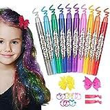 Haarkreide für Mädchen, ETEREAUTY auswaschbare Haarkreide Kinder in 10 Farben, Halloween...