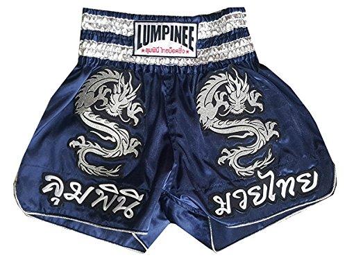 Lumpinee Muay Thai Boxershorts, dunkelblau, Größe L