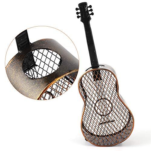 LZKW Envase del Corcho del Vino, artesanía del Arte del Hierro de la Guitarra de la Abertura Superior del Almacenamiento del Corcho del Vino para la Cocina para Oficina