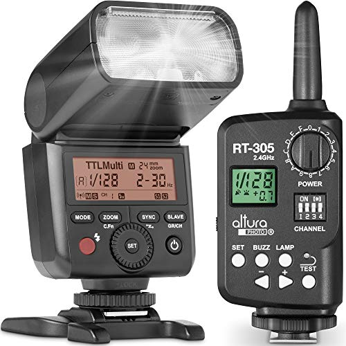 Altura Photo AP-305C Camera Flash Light with Manual Trigger for Canon R, RP, 90D, 80D, 70D, SL2, T7I, T6, T6I, 5D, 6D, 7D, M6, M50, M200-2.4GHz TTL Speedlite for DSLR and Mirrorless Cameras
