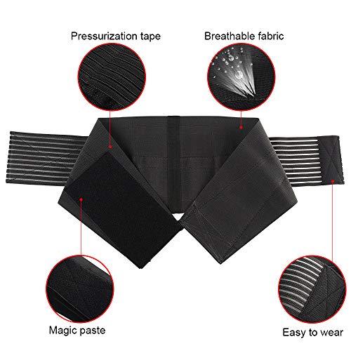 ML Faja Reductora Adelgazantes, Cinturón Lumbar Abdominal para Sudar y Hacer Deporte, Fitness y Proteger los lumbares para Mujer y Hombre, Ajustable En La Cintura Soporte para La Espalda
