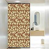Pegatina de privacidad para decoración de baño con setas orgánicas y setas con vintage gr, película de tinte de ventana para el hogar, control de calor, 35.4 x 78.7 pulgadas