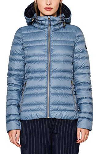 edc by ESPRIT Damen 087CC1G002 Jacke, Blau (Ink 415), X-Small