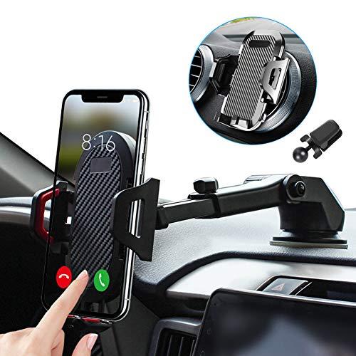 車載ホルダー スマホスタンド スマホ ホルダー 2in1強力ゲル吸盤式&エアコン出し口式兼用 オートホールド式 伸縮アーム 取り付け簡単/360度回転可能/片手操作/多機種対応