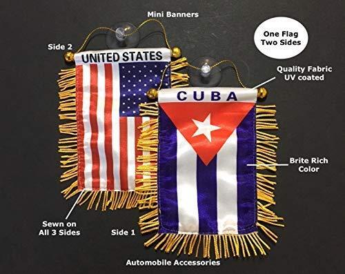 PRK 14 kubanische kubanische Flagge für Autos Qualität aus Glas 1 Fahne 2 Seiten