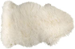 Natural Luxury Soft Premium Quality Durable Thick & Lush 100% New Zealand Sheepskin Wool Fur Area Rug, 2 ft x 3 ft, Natural