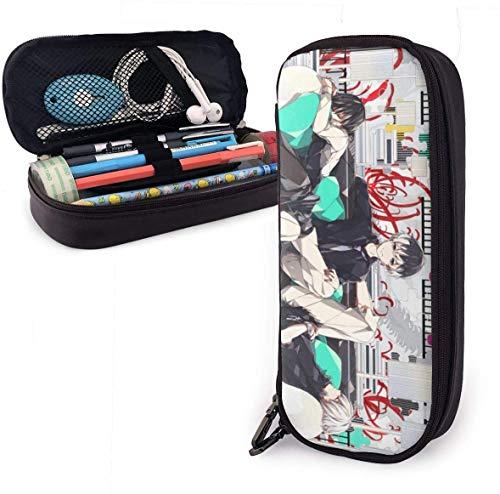 Tokyo Ghoul Anime Kaneki Ken Sofa PU Leder Federmäppchen Stift Make-up Box Studentenboxen, Büro Stift Federtasche Tasche, Tasche Stationäre Tasche Make-up Kosmetiktasche mit Reißverschluss