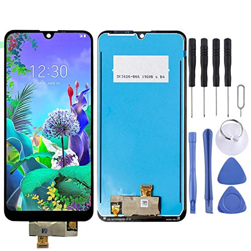 Yangle Nueva Pantalla LCD y digitalizador Asamblea Completa for LG Q60 (2019) / X525ZA / X525BAW / X525HA / X525ZAW / X6 (2019) / LMX625N / X625N / X525 (Negro) (Color : Black)