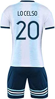 Giovani Lo Celso #20 La Selección De Fútbol De Argentina Men's Soccer Jersey -Breathable, Quick Drying