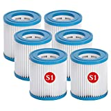 ZBCN Filtro para bomba de piscina Intex S1 filtro de spa, repuesto de filtro de limpieza de piscina inflable (10,8 x 7,4 cm) (6)