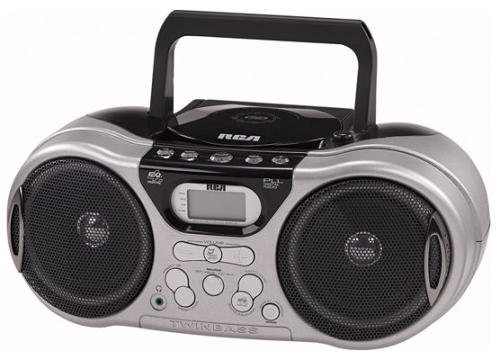 rca boomboxes 2 RCA RCD159 Portable CD/MP3 Boombox with Digital AM/FM Tuner