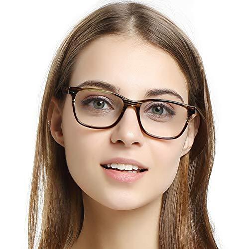 OCCI CHIARI Marcos ópticos Anteojos Marco de gafas de moda Gafas marco de acetato con correa elástica lentes transparentes para las mujeres