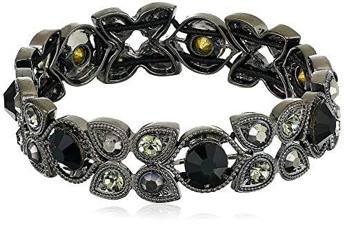 Napier Women's Bracelet 2.25 inch Stone Stretch, Jet
