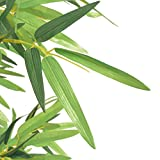 Festnight Kunstpflanze Kunstbaum Kunstbambus Bambuspflanze mit Topf 120 cm Grün - 2