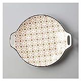 Piatti Piani Piatto piatto in stile giapponese Casa Casa Personalità creativa Piccola ceramica fresca Carino carino carino piatto binaurale piatto tavola profonda piatto Servizio Piatti ( Color : F )