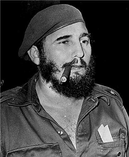 ConversationPrints Fidel Castro Smoking A Cigar Glossy Poster Picture Photo Cuba Leader Cuban
