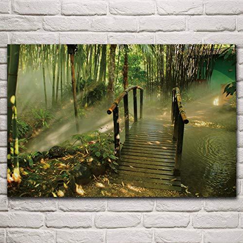 UHvEZ Rompecabezas de Madera 500pcs_Children Puente de bambú Rumba, Italia Arquitectura del Paisaje Vida Adulta Sala de Alivio del estrés Juguetes 52x38cm