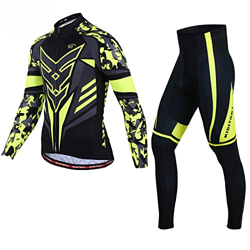 FHKL fietspak pak Mannelijke Mountainbike fietsshirt met lange mouwen pak