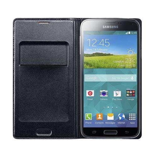 Samsung EF-WG900BB Etui-Schutzhülle mit Display-Flappe Galaxy S5 schwarz