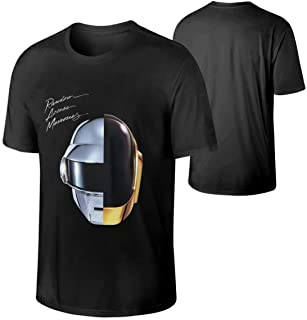 TIANPF Cotton Daft Punk Random Access Memories Mens T Shirts Man's Tshirts Black