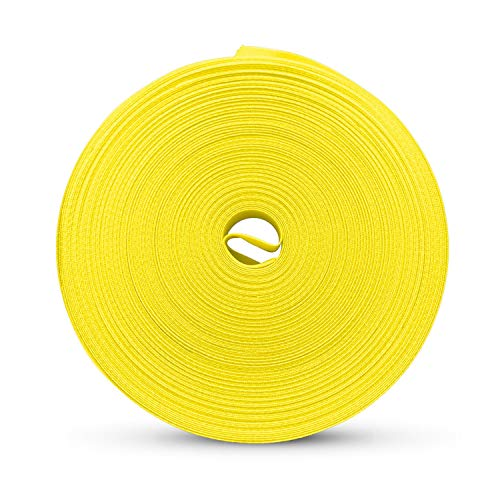 Colibree Bias Tape Double Fold 1/2 Inch - 100% Cotton Fabric Double Sided Tape for Crafts - Pre Folded Binding Tape for Sewing and Hemming - Yellow, 27 Yards…