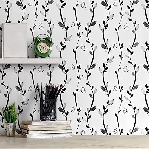 "Peel and Stick Wallpaper Floral Wallpaper 17.7""X 196.8""Modern Wallpaper Peel..."