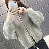 YFQHDD Abrigo de Las Mujeres del suéter de la Rebeca de Las Mujeres de otoño, Tejido Suelto Brote Vestido de suéter (Color : Card, Size : M Code)
