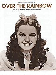 Judy garland: over the rainbow piano, voix, guitare