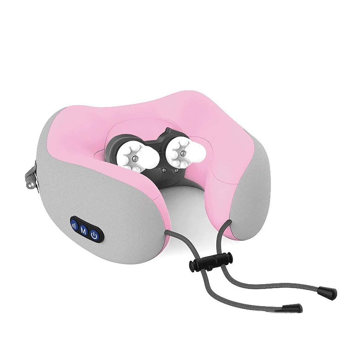 コーチ州費やす多機能U型マッサージ、枕肩頸部首と肩首電動マッサージャー充電車の首のガード